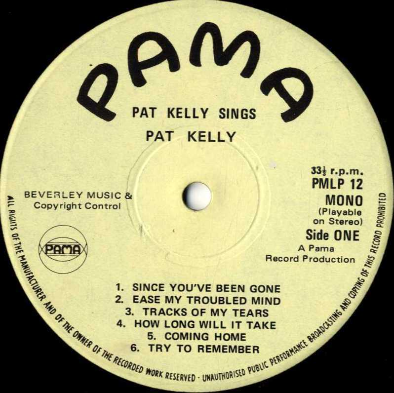 Pat Kelly - Ease My Troubled Mind - Great Pretender