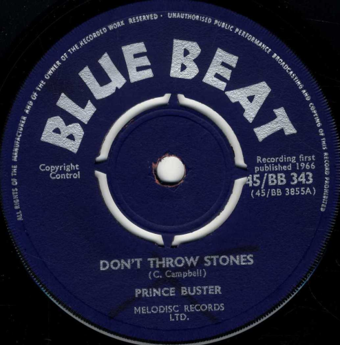 Prince Buster Don T Throw Stones Shm Records