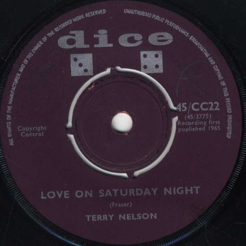 TERRY NELSON-love on a saturday night