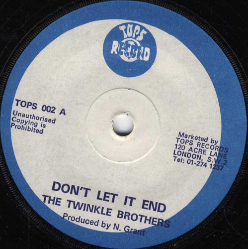 TWINKLE BROTHERS-don't let it end
