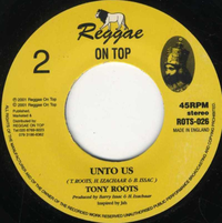 TONY ROOTS-unto us