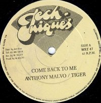 ANTHONY MALVO & TIGER-come back to me