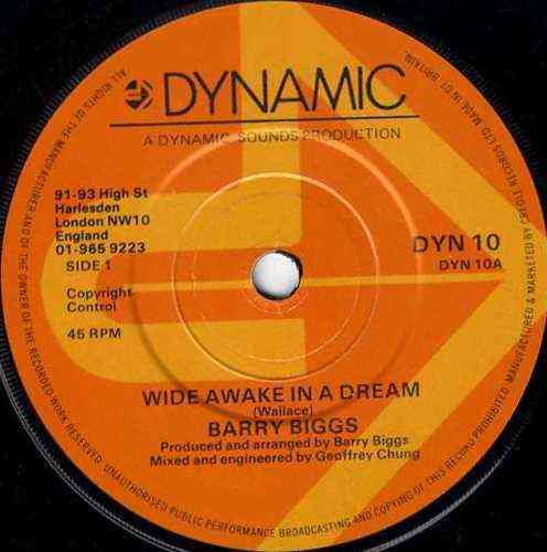 BARRY BIGGS-wide awake in a dream