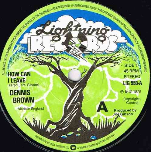 DENNIS BROWN-how can i leave