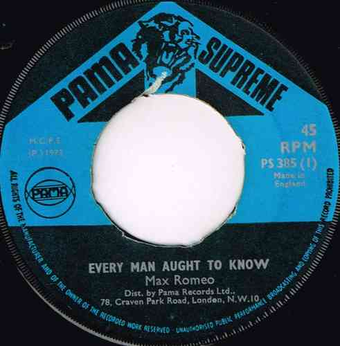 MAX ROMEO-every man aught to know