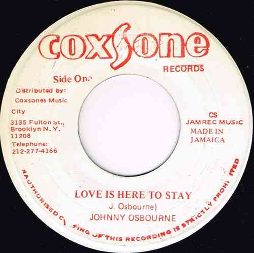 JOHNNY OSBOURNE-love is here to stay