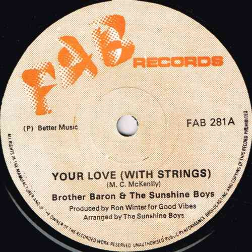 BROTHER BARON & the SUNSHINE BOYS-your love