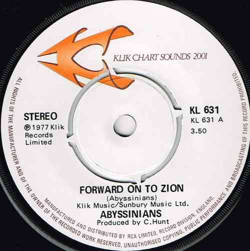ABYSSINIANS-forward on to zion