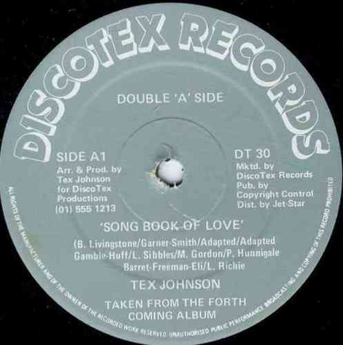 TEX JOHNSON-song book of love