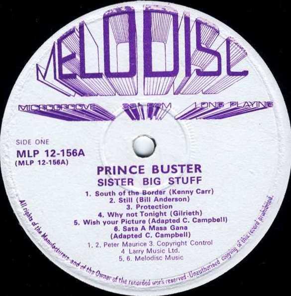 Prince Buster The Folk Brothers Big Five Carolina Shaking Up Orange Street