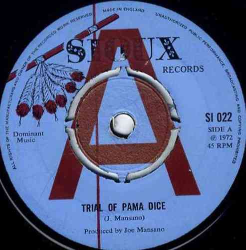 JOE MANSANO-trial of pama dice