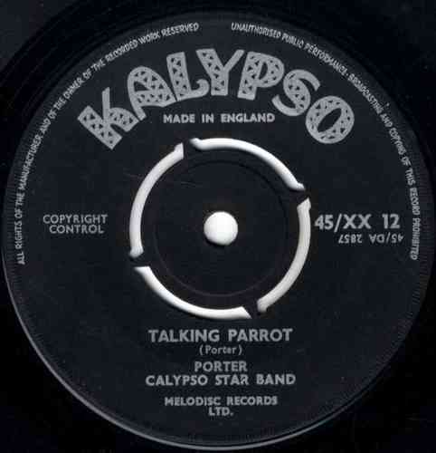 PORTER & CALYPSO STAR BAND-talking parrot