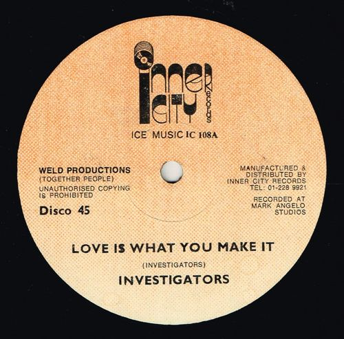 INVESTIGATORS-love is what you make it