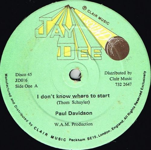 PAUL DAVIDSON-i don't know where to start