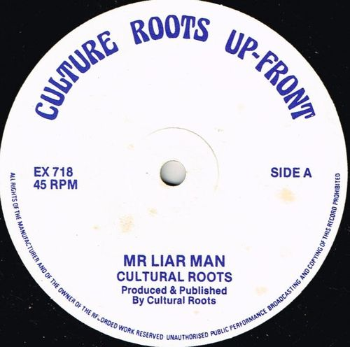 CULTURAL ROOTS-mr liar man
