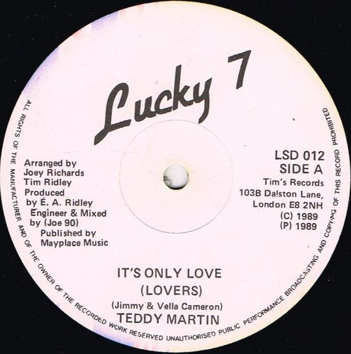 TEDDY MARTIN-it's only love