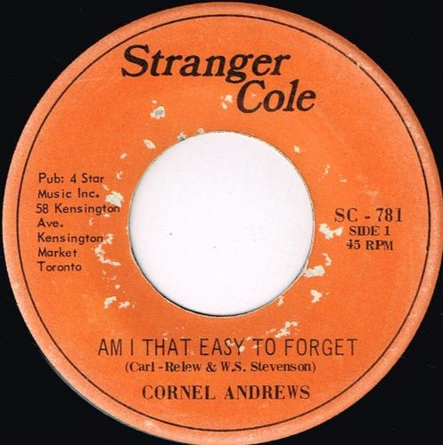 CORNEL ANDREWS-am i that easy to forget