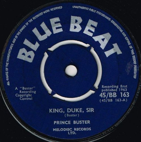 PRINCE BUSTER-king duke sir