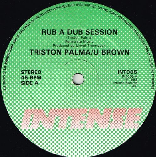TRISTON PALMA & U BROWN-rub a dub session