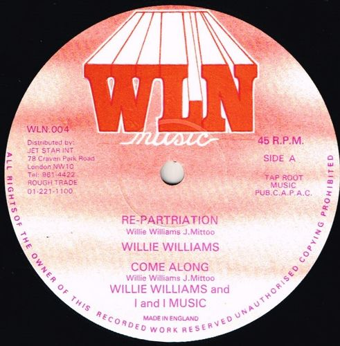 WILLIE WILLIAMS-repartriation