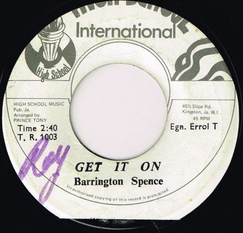 BARRINGTON SPENCE-get it on