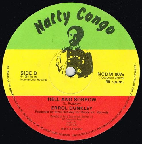 ERROL DUNKLEY-hell & sorrow
