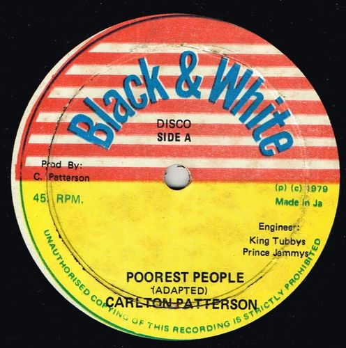CARLTON PATTERSON & ERROL SCORCHER-poorest people