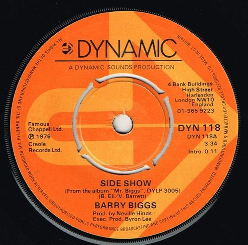 BARRY BIGGS-side show