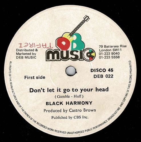 BLACK HARMONY-don't let it go to your head