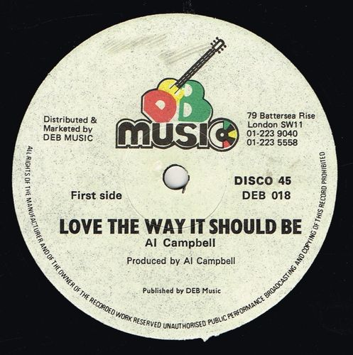 AL CAMPBELL-love the way it should be