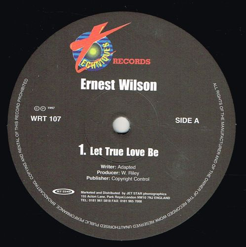ERNEST WILSON-let true love be