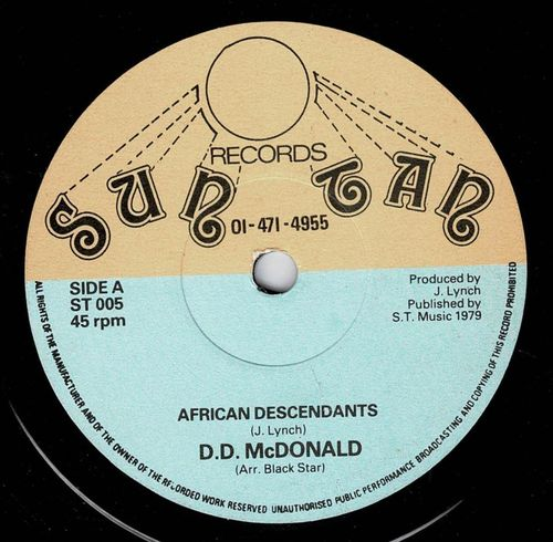 D D McDONALD-african descendants