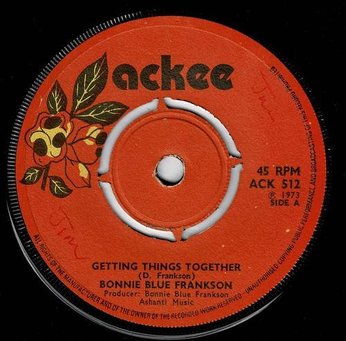 BONNIE BLUE FRANKSON-getting things together
