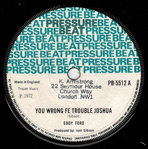 EDDY FORD-you wrong fe trouble joshua
