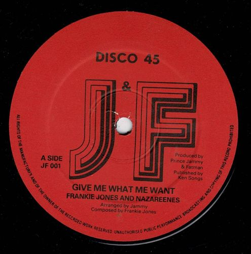 FRANKIE JONES-give me what me want
