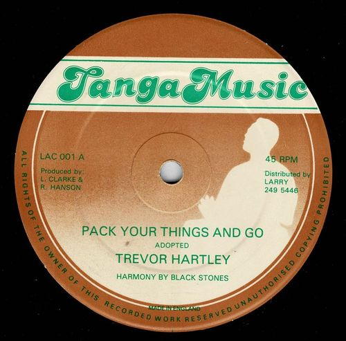 TREVOR HARTLEY-pack your things & go