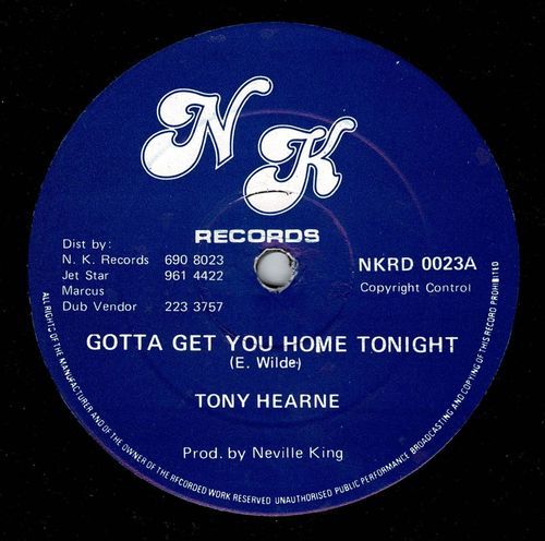 TONY HEARNE-gotta get you home tonight