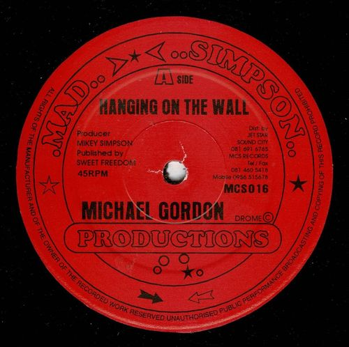 MICHAEL GORDON-hanging on the wall