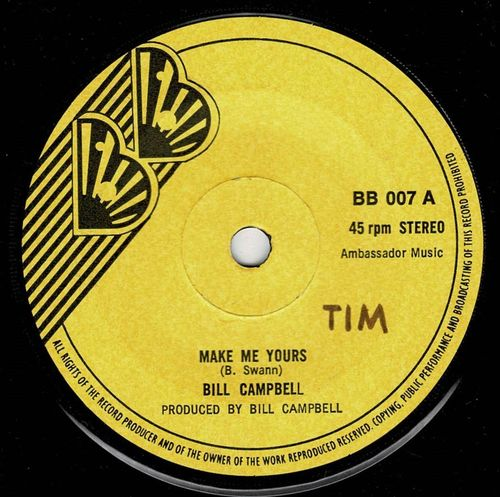 BILL CAMPBELL-make me yours