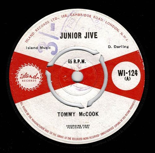 TOMMY McCOOK-junior jive