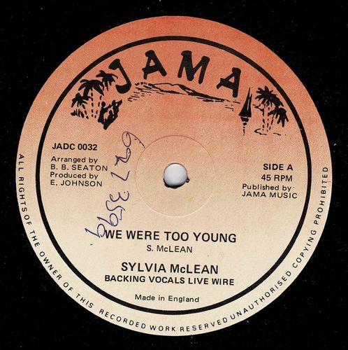 SYLVIA McLEAN-we were too young