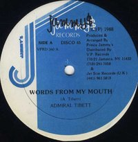 ADMIRAL TIBET-words of my mouth