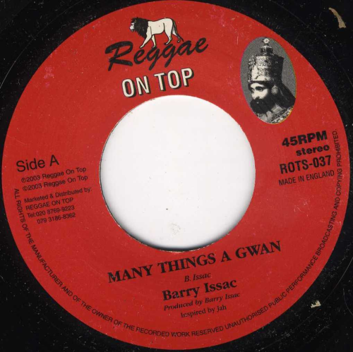 BARRY ISSAC-many things a gwan