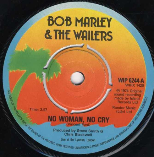 Bob Marley No Woman No Cry Live Re Issue Shm Records