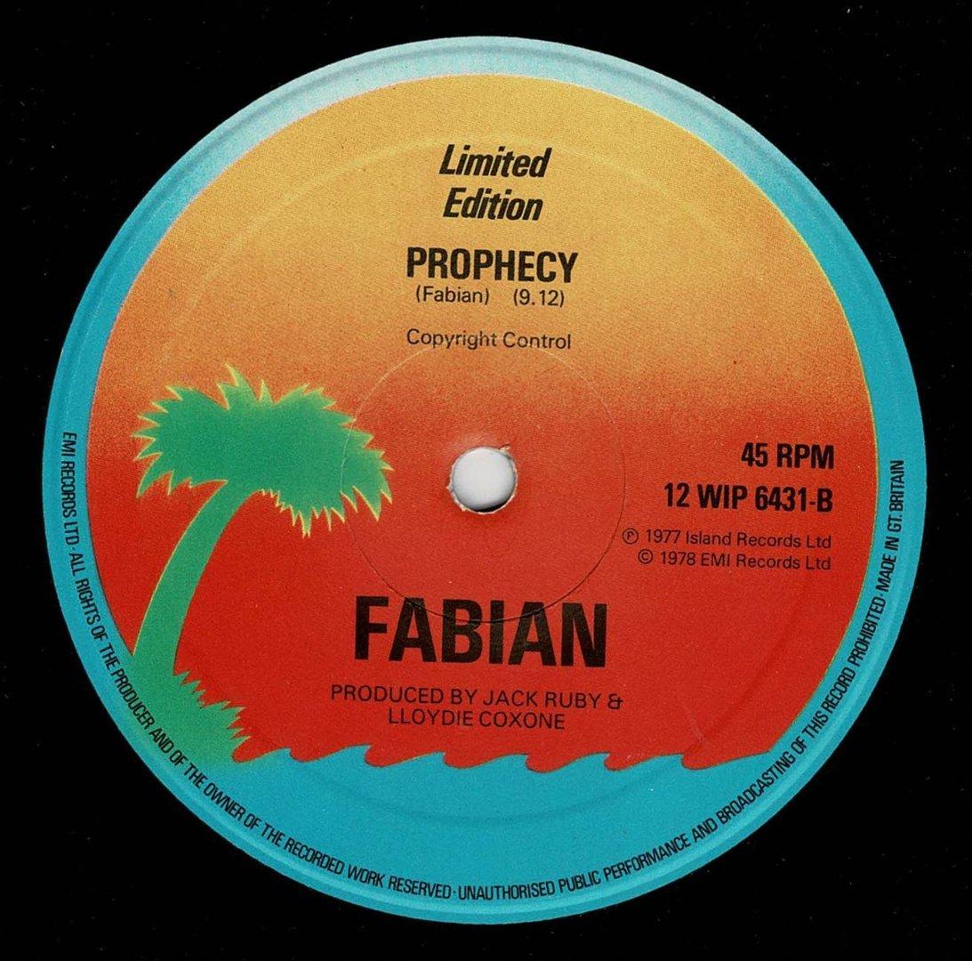 Fabian Prophecy Shm Records