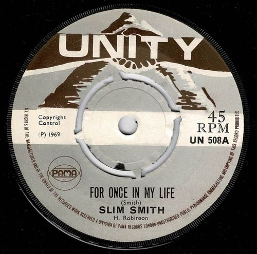 SLIM SMITH-for once in my life