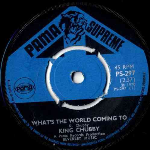 JUNIOR BYLES (King Chubby)-what's the world coming to