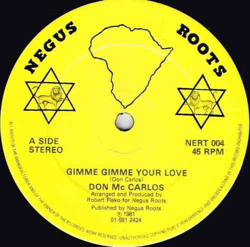 DON CARLOS-gimme gimme your love