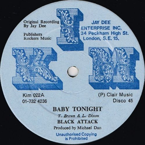 BLACK ATTACK-baby tonight