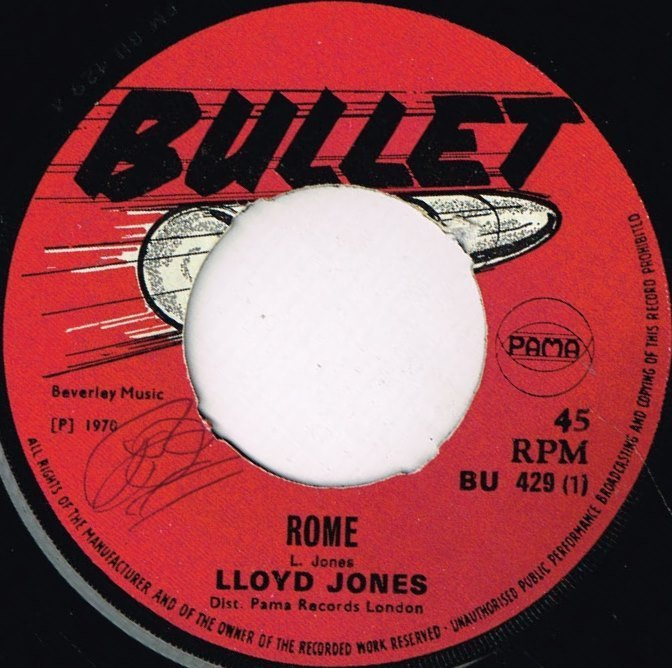 Lloyd Jones Rome Shm Records